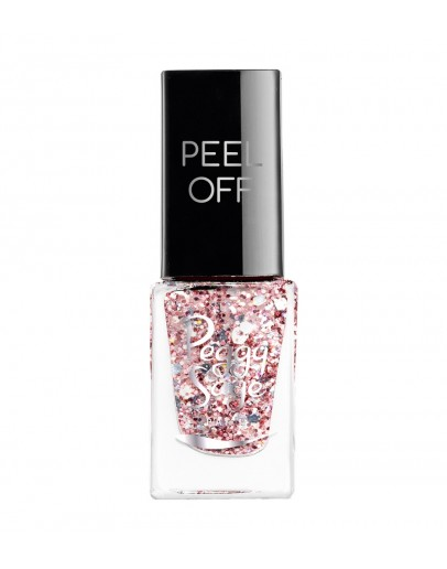 Verniz Mini Peel-off - Rose glitter