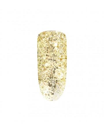 Verniz Mini Peel-off - Gold glitter