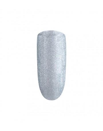Gel nail art & stamping - silver