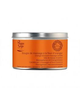 Vela de massagem com flor de laranjeira