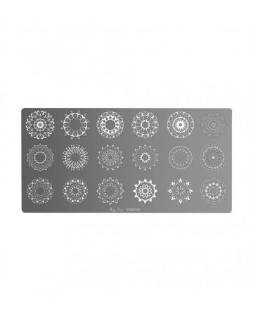 Placa stamping mandala