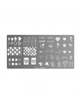 Placa stamping - love
